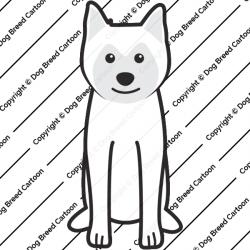 Ainu Dog Cartoon