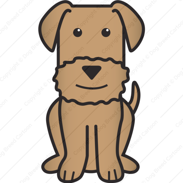 Airedale Terrier Cartoon