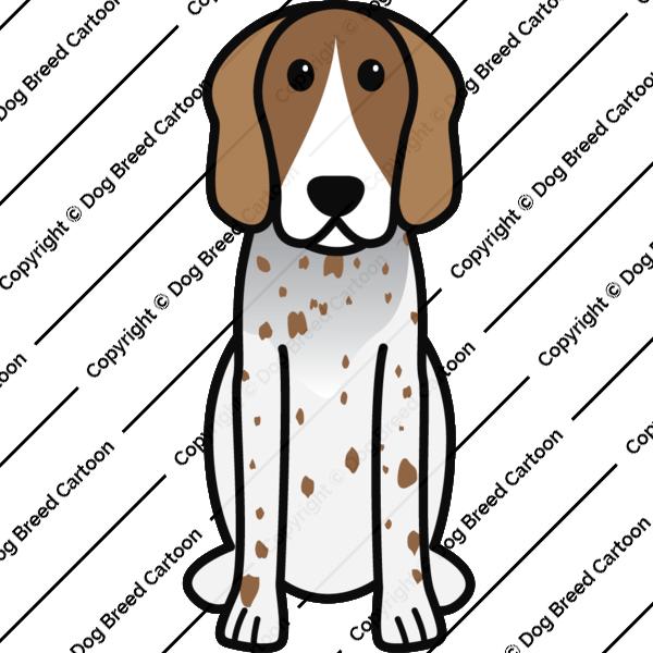 American English Coonhound Cartoon