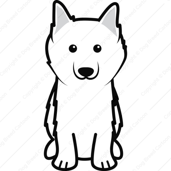 American Eskimo Dog Cartoon