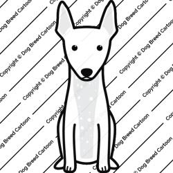 American Hairless Terrier Cartoon