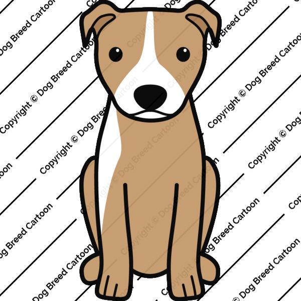 American Pitbull Terrier Cartoon