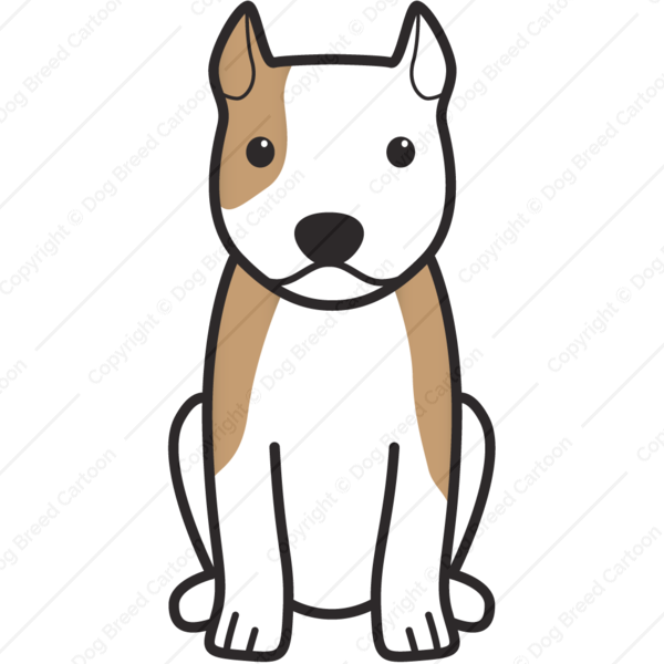 American Staffordshire Terrier Cartoon