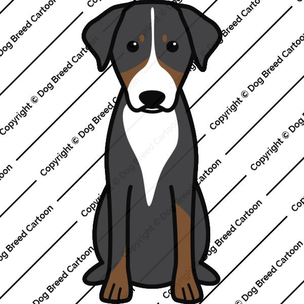 Appenzeller Sennenhund Cartoon