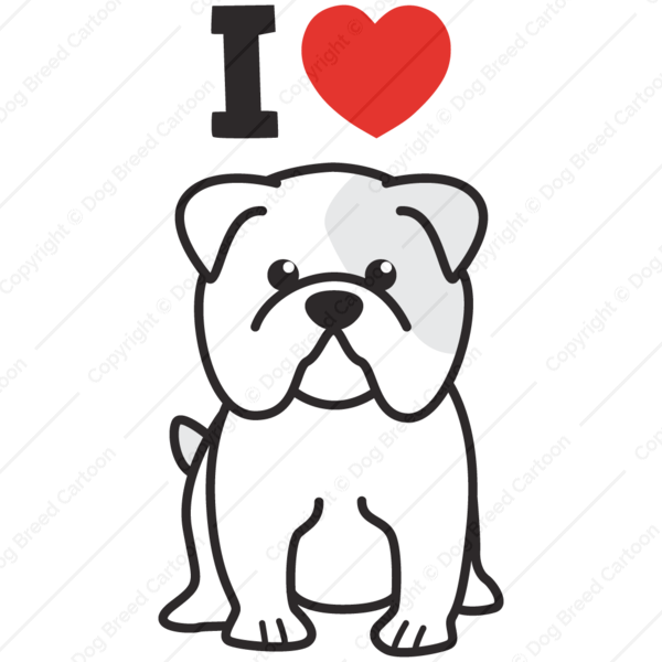 Bulldog I Love Cartoon