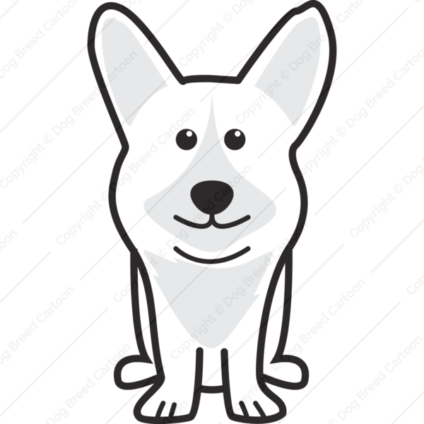 Cardigan Welsh Corgi Cartoon