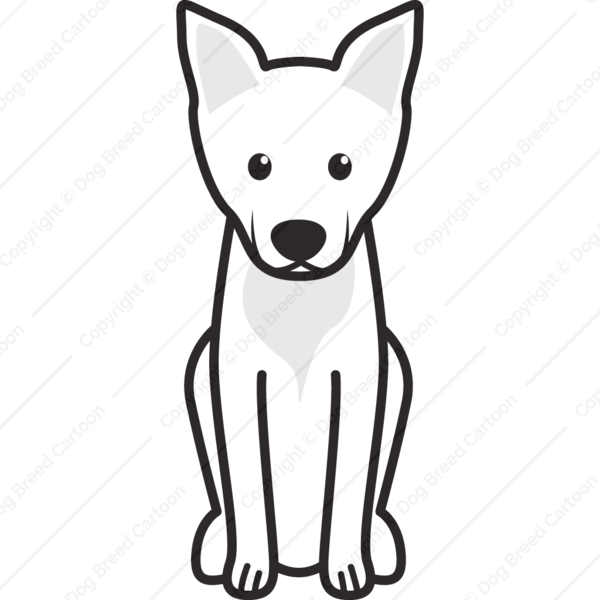 Carolina Dog Cartoon
