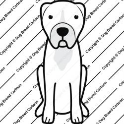 Central Asian Shepherd Dog Cartoon