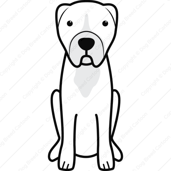 Central Asian Shepherd Dog Cartoon