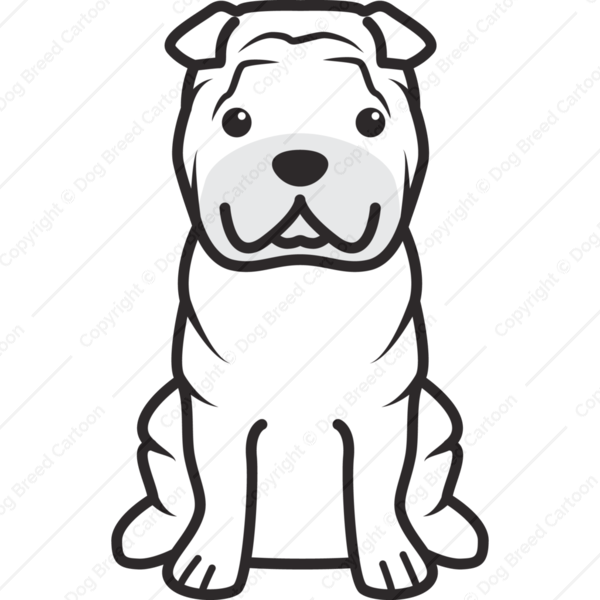 Chinese Shar-Pei Cartoon