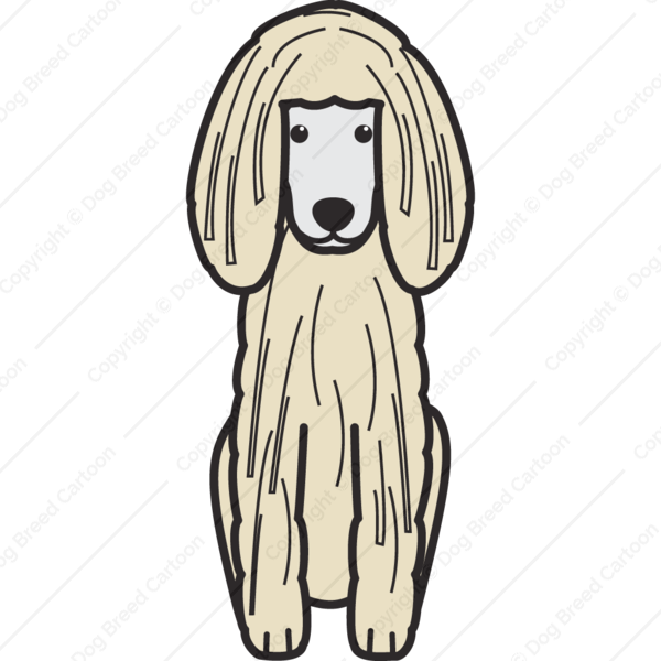 Corded Poodle Cartoon