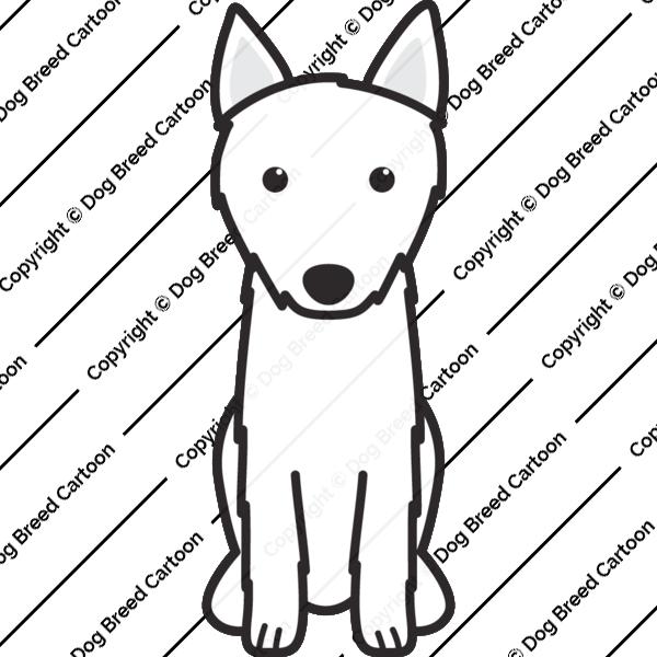 Croatian Shepherd Dog Cartoon