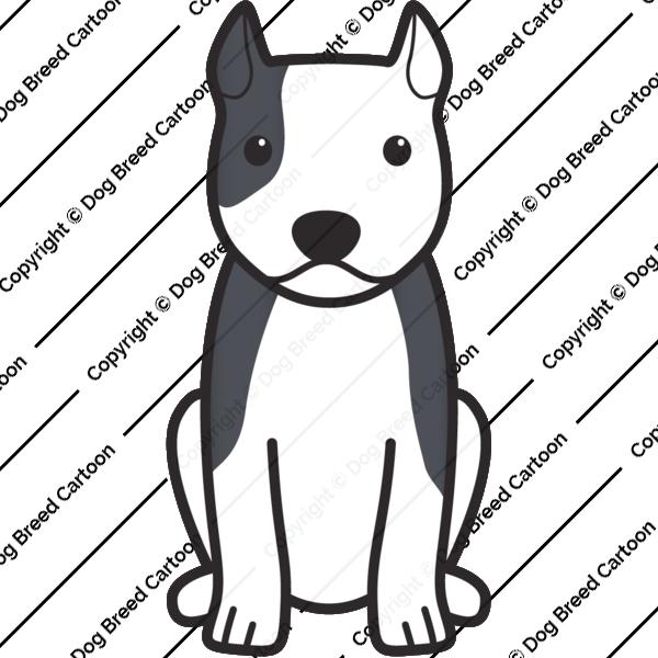 American Staffordshire Terrier Cartoon
