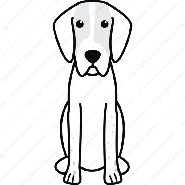 English Foxhound Cartoon
