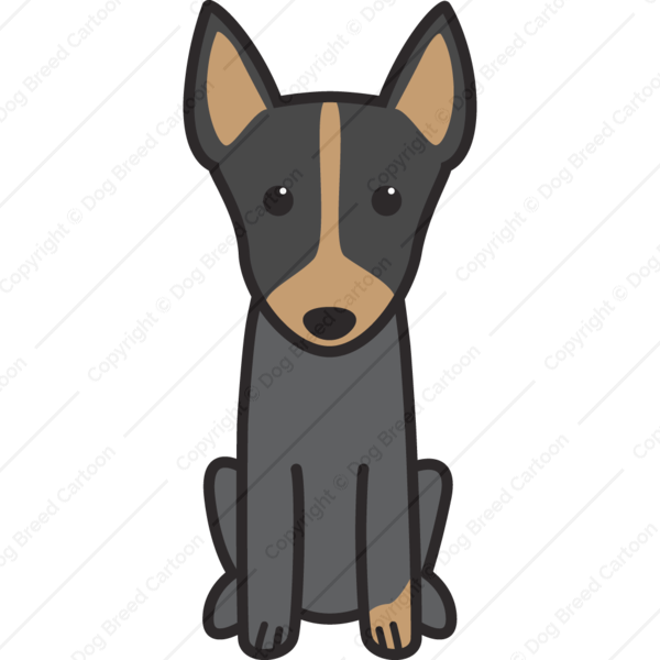 English Toy Terrier Cartoon