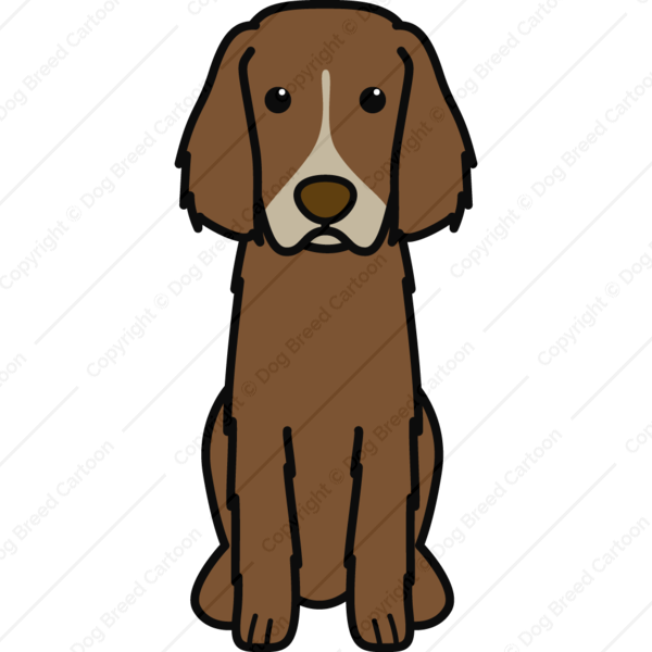 German Longhaired Pointer Cartoon