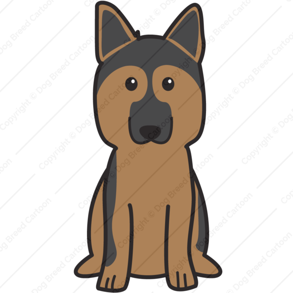 German Shepherd Cartoon