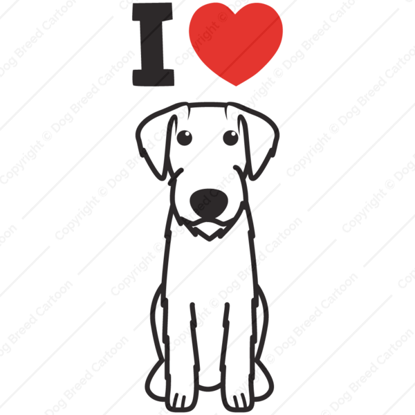 German Wirehaired Pointer Cartoon