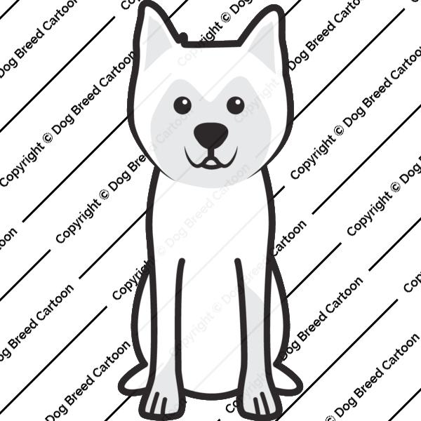 Hokkaido Dog Cartoon