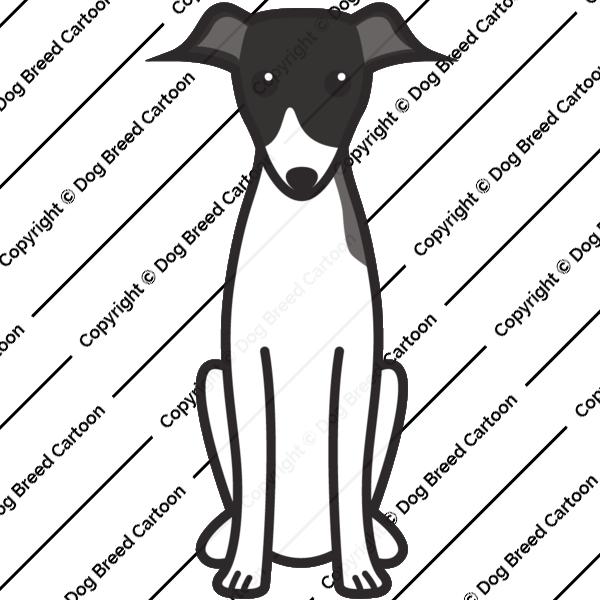 Italian Greyhound Cartoon