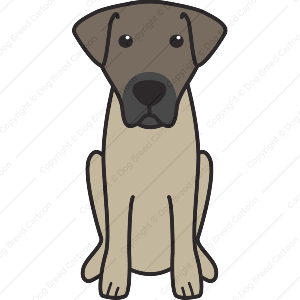 Kangal Dog Cartoon