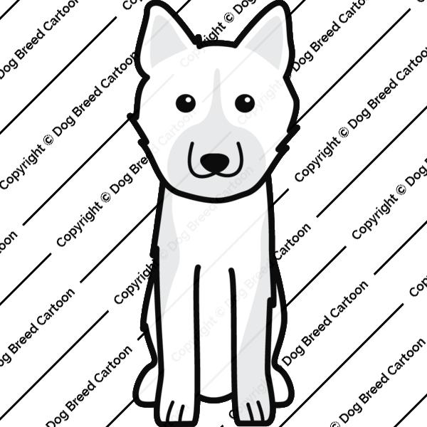 Karelian Bear Dog Cartoon