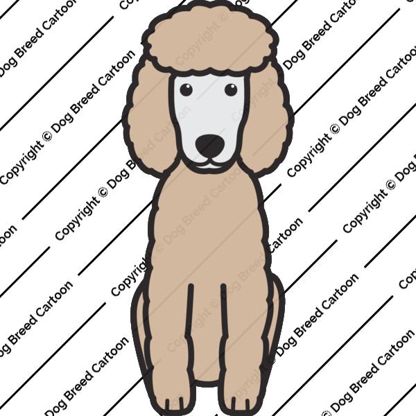 Miniature Poodle Cartoon