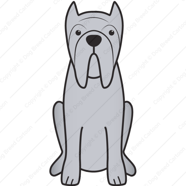 Neapolitan Mastiff Cartoon
