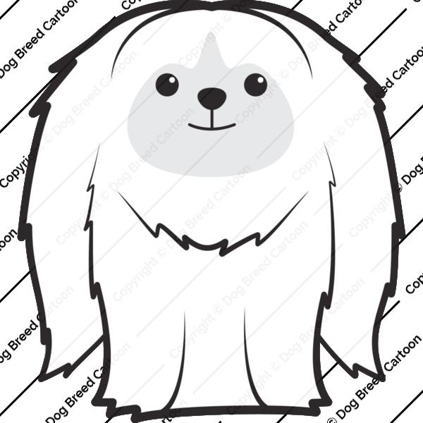 Pekingese Cartoon