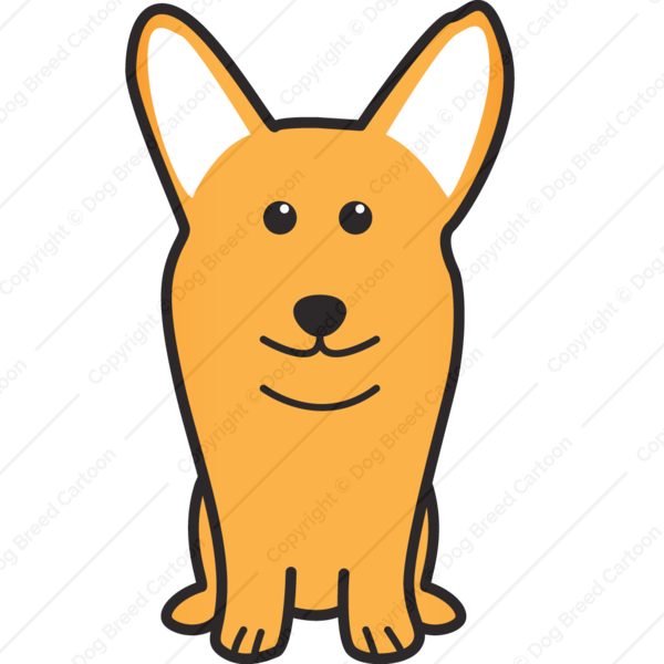 Pembroke Welsh Corgi Cartoon