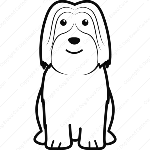 Polish Lowland Sheepdog Cartoon