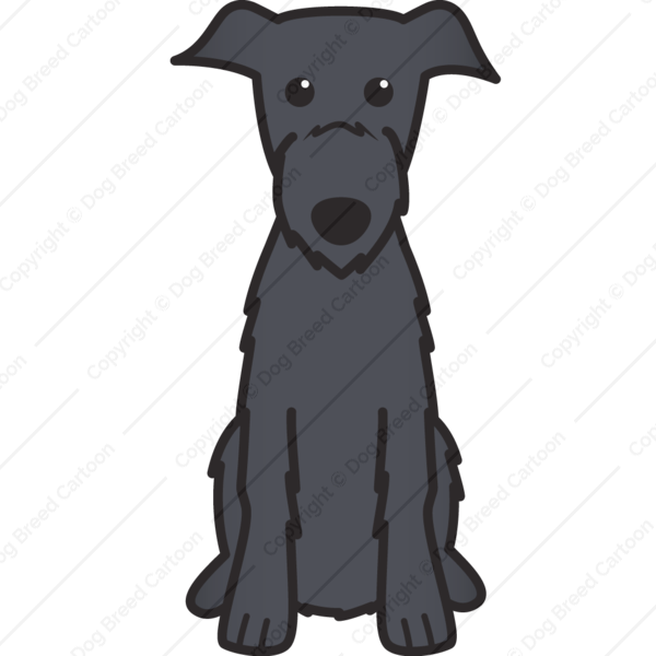 Scottish Deerhound Cartoon