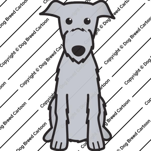 Scottish Deerhound Cartoon