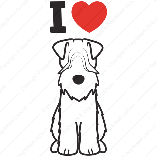 Soft Coated Wheaten Terrier | Dog Cartoon Soft Coated Wheaten Terriers