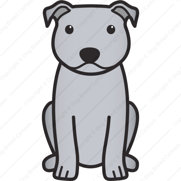 Staffordshire Bull Terrier Cartoon