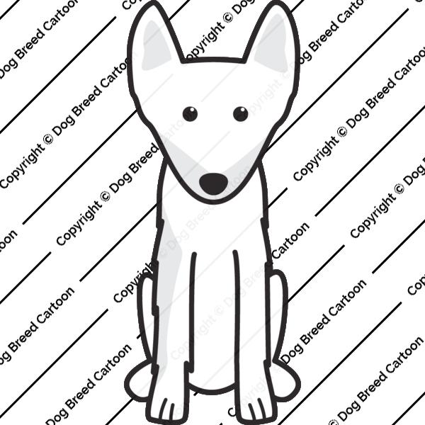 Swedish Elkhound Cartoon