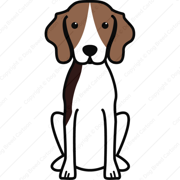 Treeing Walker Coonhound Cartoon