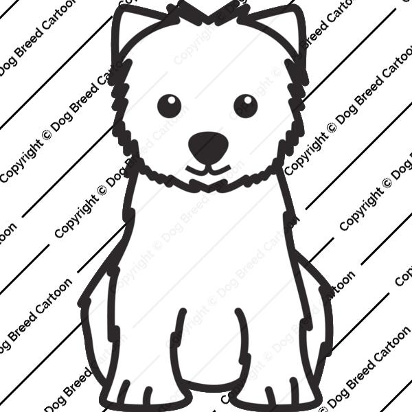 West Highland White Terrier Cartoon