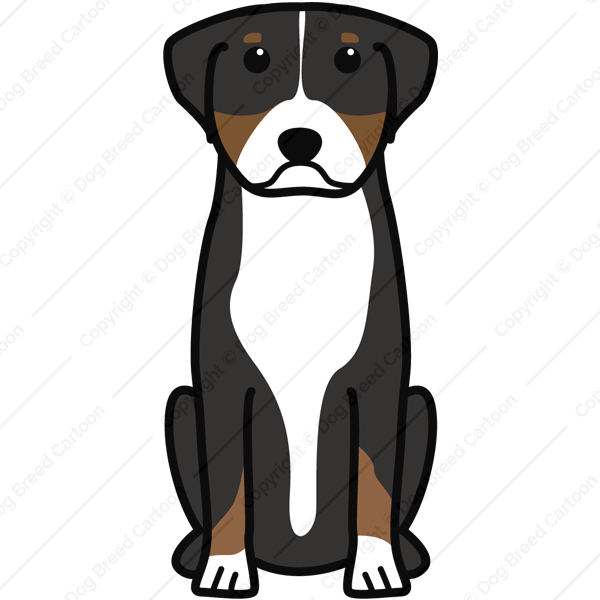 Greater Swiss Mountain Dog Cartoon