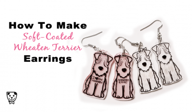 How To Make Your Own #SoftCoatedWheatenTerrier Wheatie Earrings! #DIY