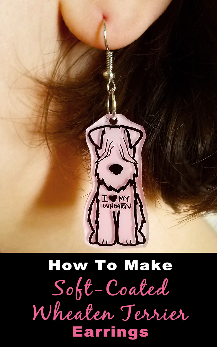 Make these adorable #SoftCoatedWheatenTerrier Earrings! DIY #WheatenTerrier Jewelery