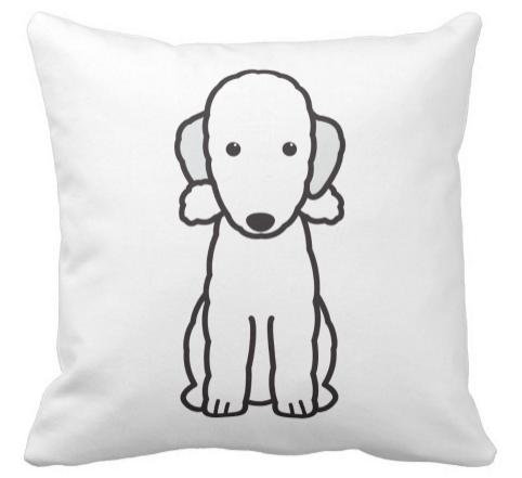I Love My #BedlingtonTerrier Pillow