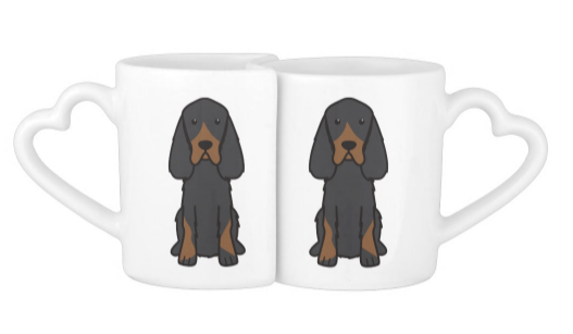 I Love My #GordonSetter Couple Mug Heart Set