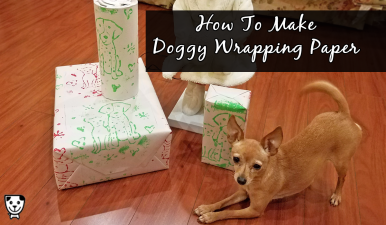 Make your own doggy wrapping paper