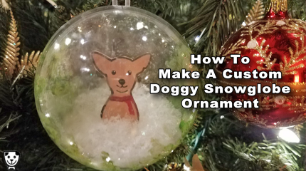 How To Make A Custom Doggy Snowglobe Ornament