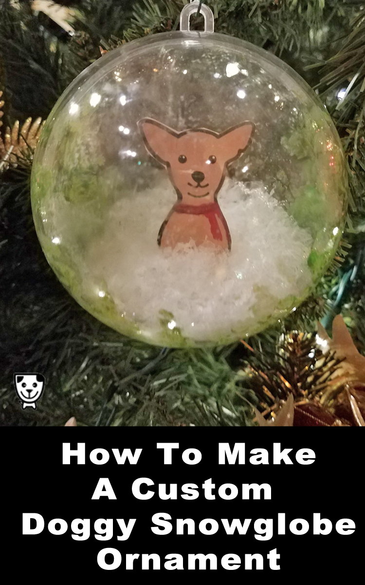How To Make Dog Snowglobe Ornaments #Christmascrafts