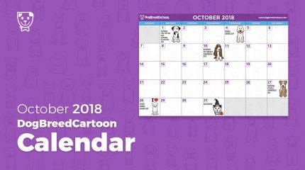 october dog calendar